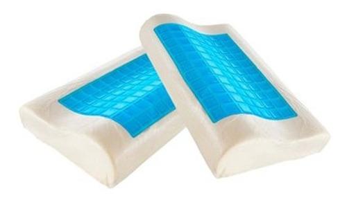 set x2 almohada memory foam sensor gel mantiene fresco funda