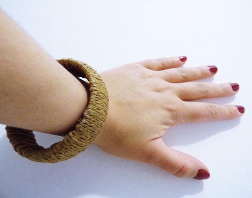 set x2 brazalete pulsera  forrada en yute