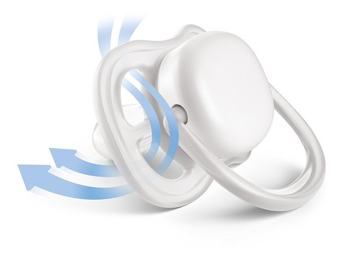set x2 chupetes 0-6 meses ultra air nocturnos avent philips