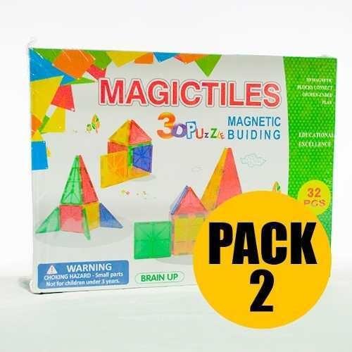 set x2 juegos didácticos magnéticos de 32 piezas
