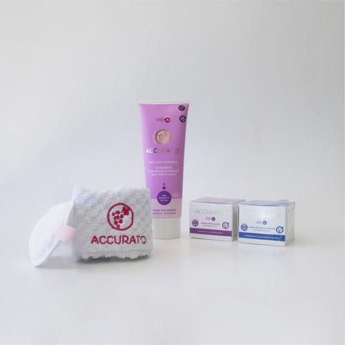 set x3 accurato cuidado de pieles sensibles y secas.