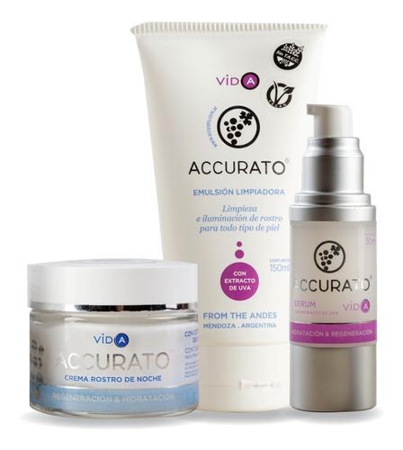 set x3 accurato cuidado facial noche pieles sensibles secas