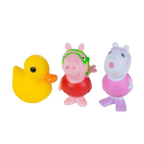 set x3  peppa pig  bath squirtees quack 3  (7.62 cm) a1200