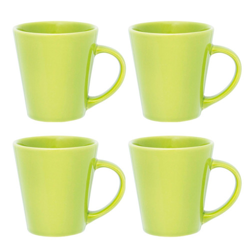 set x4 jarros drop taza mug 250 ml biona café té colores