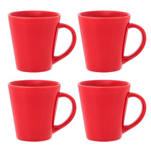 set x4 jarros drop taza mug 250 ml biona café té colores