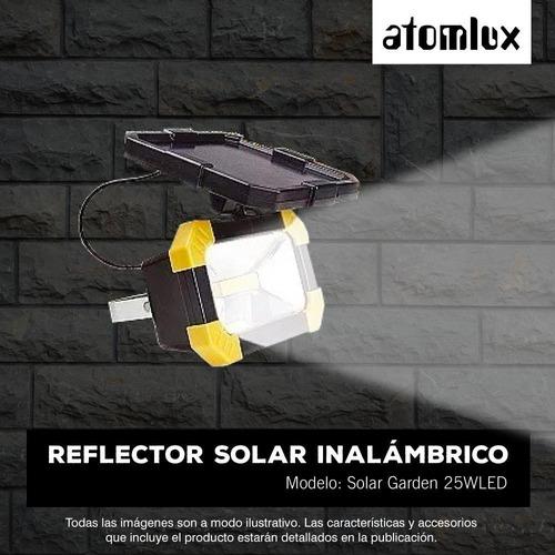 set x4 solar led seguridad atomlux afuera vigila 25w ahora12