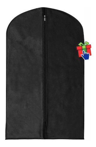 set x5 fundas ropa larga friselina negro 60x130cm traje