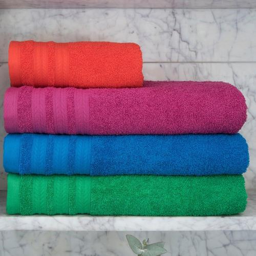 set x5 juegos toalla toallon arco iris 100% algodón 450grs