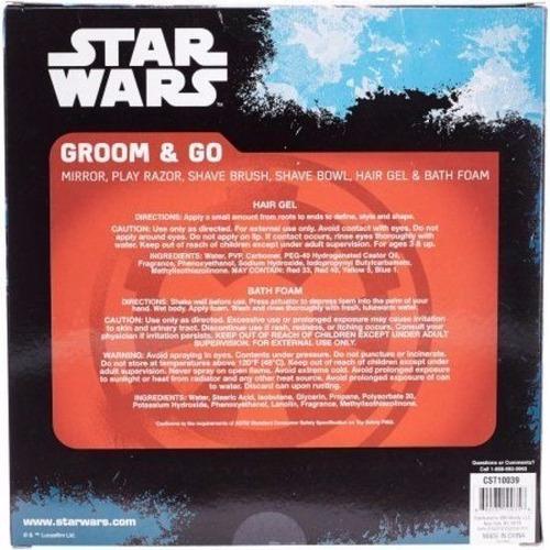 set x6 de baño  star wars juego de afeitar para niños