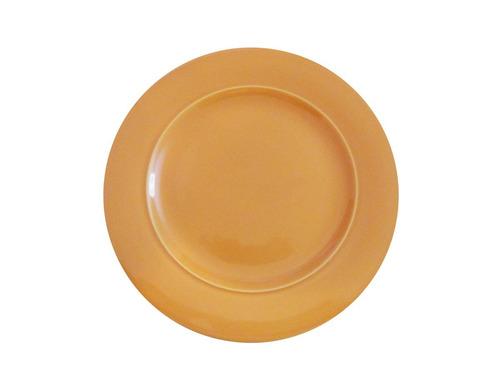 set x6 platos playos ancers naranja salmon cerámica oferta