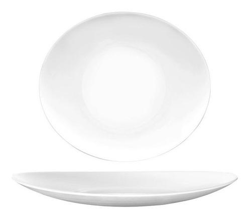 set x6 platos playos vidrio templados opal opalinos ovalados