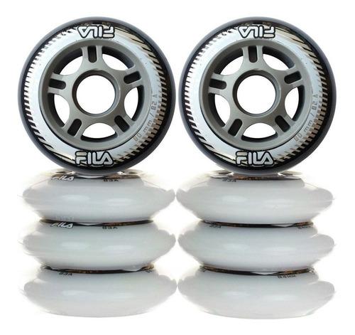 set x8 ruedas fila silicona para rollers 80mm patín - el rey