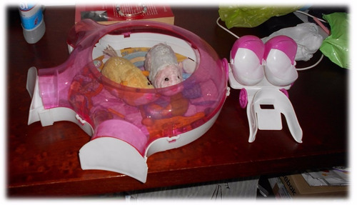set zhu zhu pets hamstermóvil, garaje y laberinto