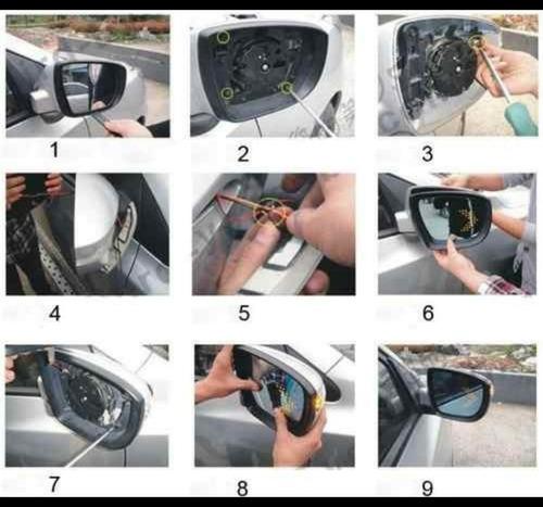 seta pisca retrovisor led universal carro, moto, caminhão