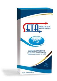 Seta Ps Premix Vitamínico Vitamina Alimentação De Aves 5un