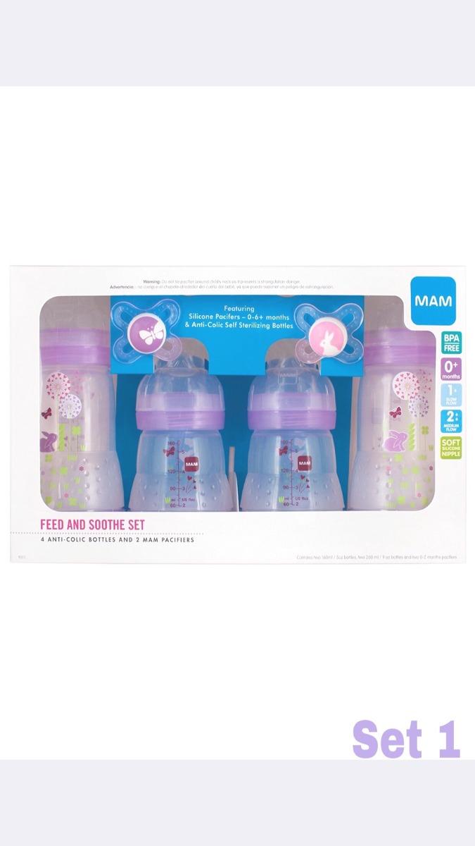 MAM tetinas flujo lento frasco para su uso con MAM botellas 2-Pack