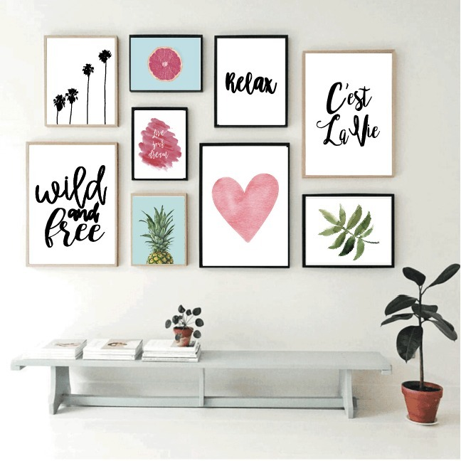 Cuadros para decoracion de interiores cuadro geomtrico - Cuadros para decoracion ...