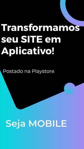 seu site em aplicativo postado na playstore