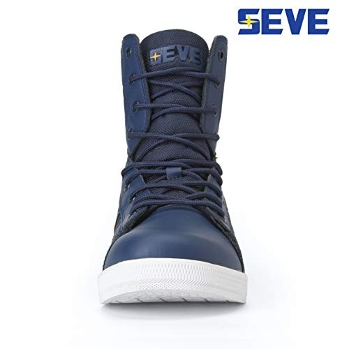 5cb29cf8497 Seve Men s Navy Blue Athletic High Top Lace Up Sneakers Ge ...