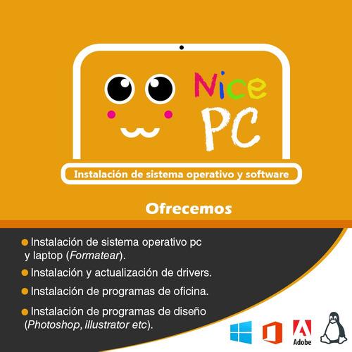 sevicio técnico (software) formateo de pc y laptops