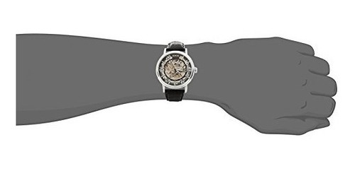 sewor mens mechanical skeleton transparente estilo vintage r