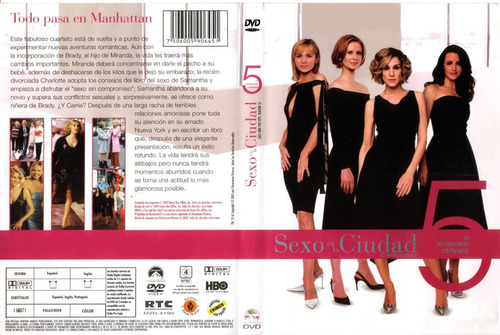 sex and the city temporada 5 dvd original nuevo sellado