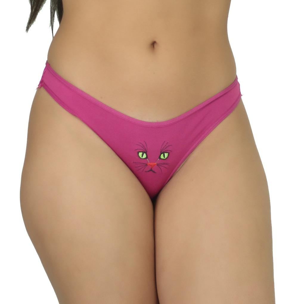 476eadc8a Sex Shop Lingerie Kit 3 Calcinhas Fio Dental Gata Renda Sexy - R  59 ...