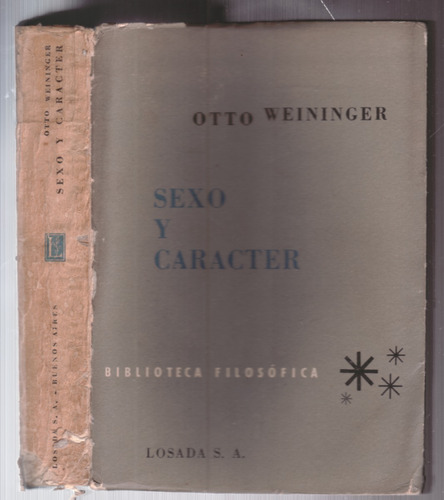 sexo y caracter - otto weininger