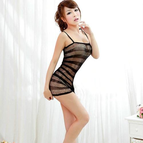 sexy baby doll de malla sexy lencería erótico vestido