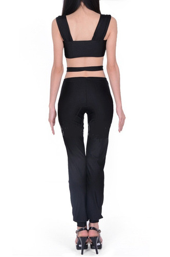 sexy body negro moderno con franjas en vientre y cintura