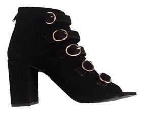 249588b3705 Botines De Tacon Grueso Negros Y Cordones - Zapatos en Mercado Libre ...