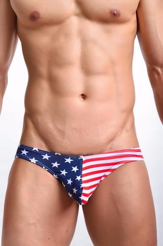 sexy calzoncillo corte bikini bandera usa eua estados unidos