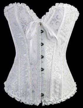 Sexy Corset Blanco Lencería Fina Estiliza Entrega Inmediata -   399.00 en  Mercado Libre 2b05c5cb130a