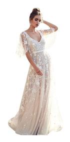 0003cf15c Sexy Elegante Vestido Largo Fiesta Noche V Cuello Blanco