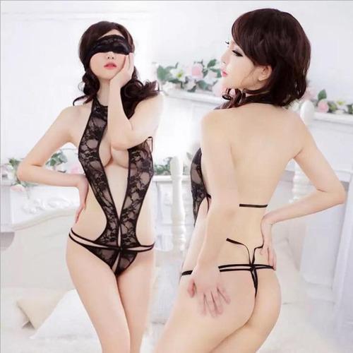 sexy lencería bralett panty encaje coordinado body conjunto