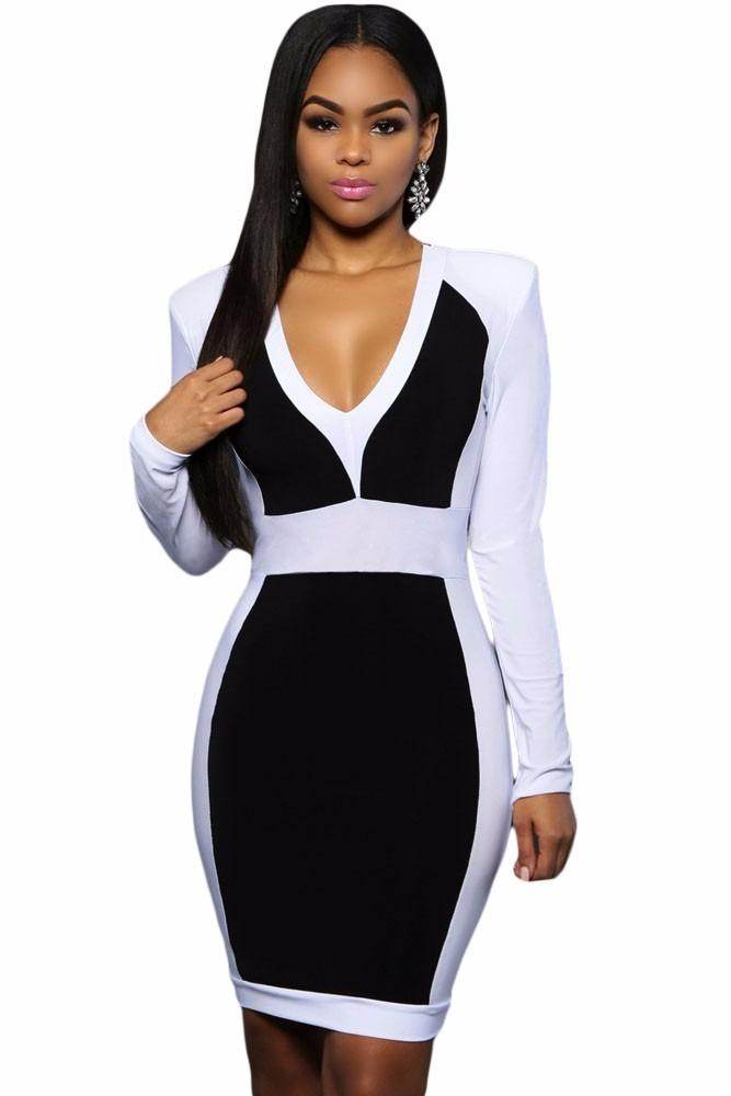 Vestido blanco con negro