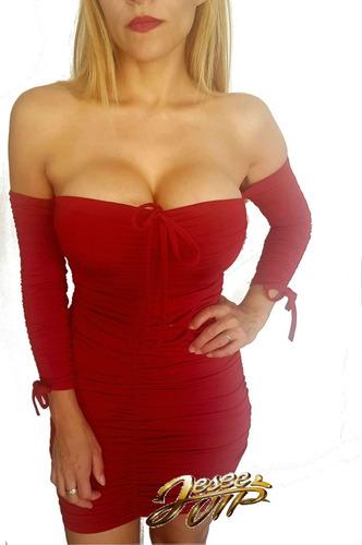 sexy mini vestido verano sin hombro con mangas en 3 colores