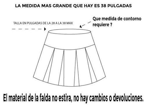 sexy minifalda tableada tipo colegiala con ligueros y medias