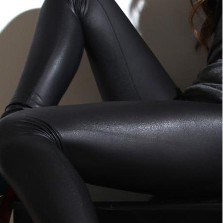 sexy moda leggins mallas negro brilloso pantalon legin 7748