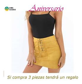 ab457f43c Sexy Mujeres Gamuza Mini Falda Encaje -hasta Lápiz Faldas C