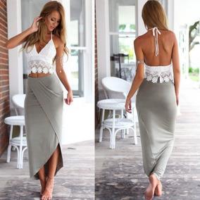 fad341e4f Vestido Blanco Para Playa Largo - Trajes en Mercado Libre Colombia