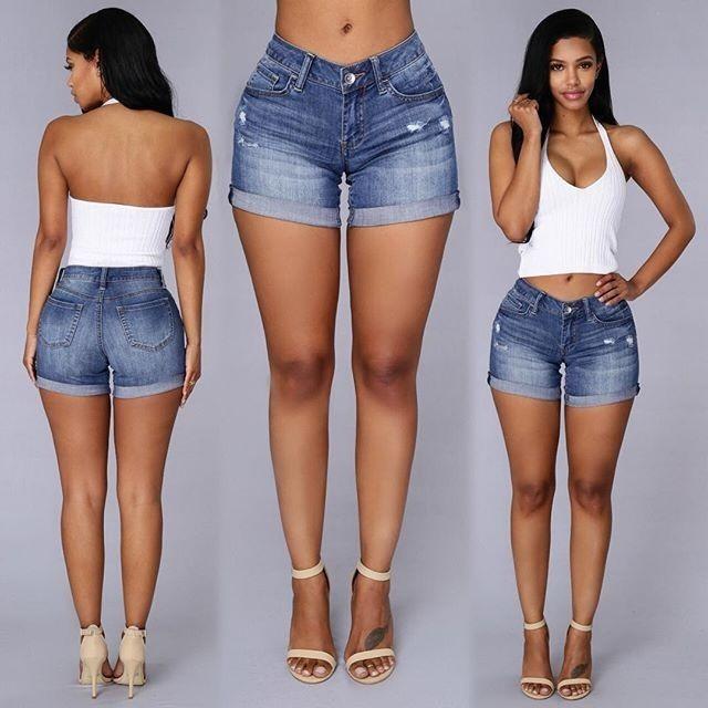 00510c115 Sexy Pantalones Cortos Vaqueros Mezclilla Short Mujer Dama ...