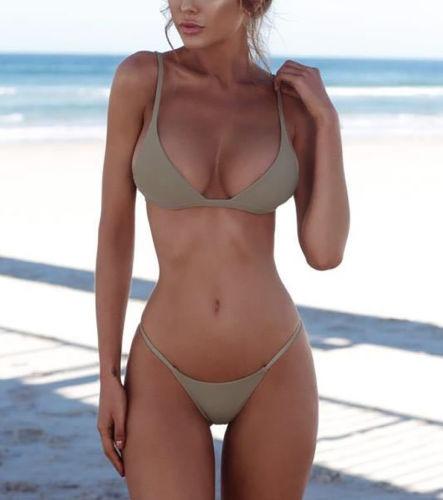 Sexy Traje De Baño Mujeres Triángulo Bikini Amy Green