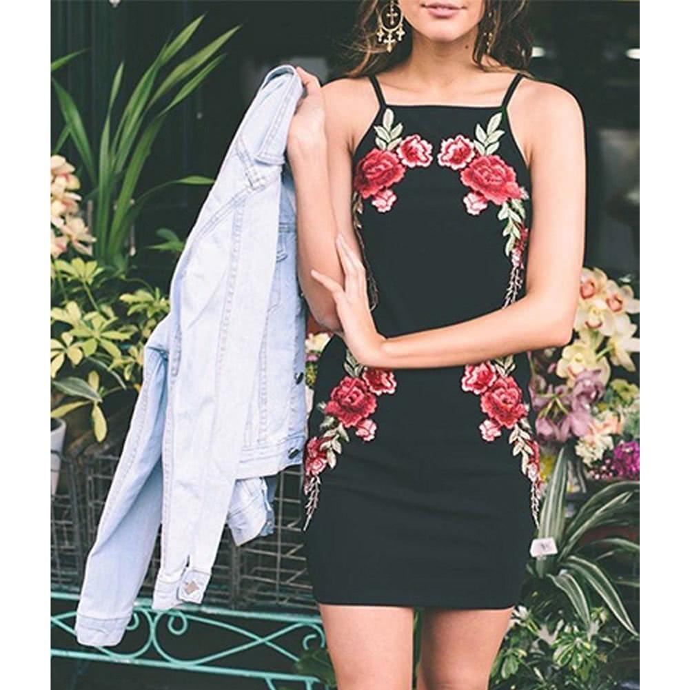 Sexy Traje Dos Piezas Floral Scrapless Backless Falda Lápiz ... cb1c2592719c