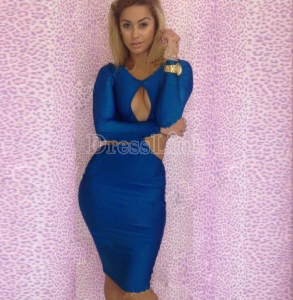 Sexy Vestido Azul Moderno Con Aberturas Table Dance 20032 - $ 440.00 ...