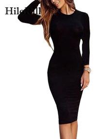 Vestidos Corte Lapiz Con Olan Vestidos Casual Gris Oscuro