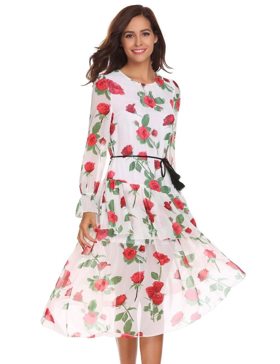 d50fb571301a3 sexy vestido de manga larga de estilo bohemio a line plisado. Cargando zoom.