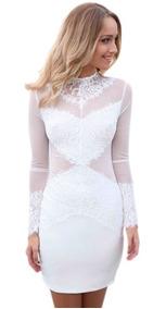 a3a260bb123e Vestido Lob Blanco - Vestidos de Mujer Textura en Jalisco en Mercado ...