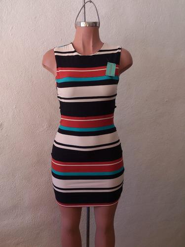 sexy vestido estampado franjas colores aberturas en espalda