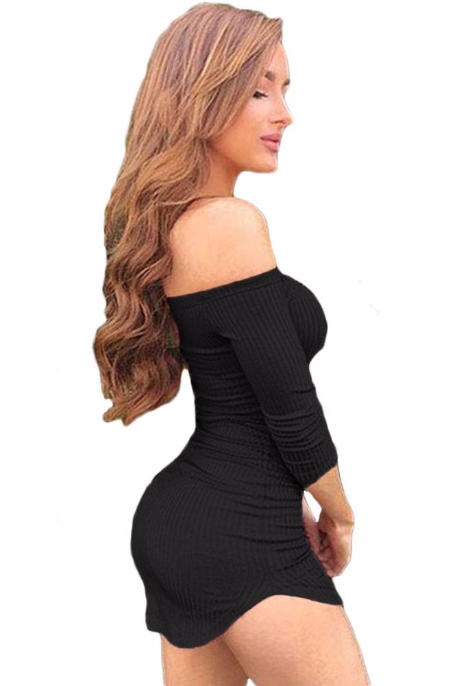 Vestidos negro strapless